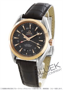 オメガ シーマスター アクアテラ GMT アリゲーターレザー 腕時計 メンズ OMEGA 231.23.43.22.06.001