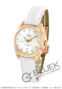 オメガ シーマスター アクアテラ SG金無垢 ダイヤ アリゲーターレザー 腕時計 レディース OMEGA 231.53.34.20.55.001