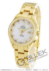 オメガ シーマスター アクアテラ ダイヤ YG金無垢 腕時計 レディース OMEGA 231.55.34.20.55.001