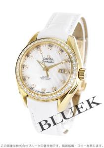 オメガ シーマスター アクアテラ ダイヤ YG金無垢 アリゲーターレザー 腕時計 レディース OMEGA 231.58.34.20.55.001