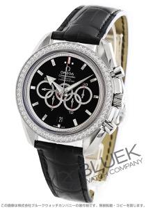 オメガ スピードマスター ブロードアロー オリンピックコレクション ダイヤ WG金無垢 アリゲーターレザー 腕時計 メンズ OMEGA 321.58.44.52.51.001X3