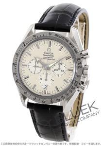 オメガ スピードマスター ブロードアロー クロノグラフ WG金無垢 アリゲーターレザー 腕時計 メンズ OMEGA 3652.30.31