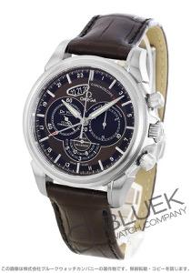 オメガ デビル コーアクシャル クロノスコープ クロノグラフ GMT アリゲーターレザー 腕時計 メンズ OMEGA 422.13.44.52.13.001