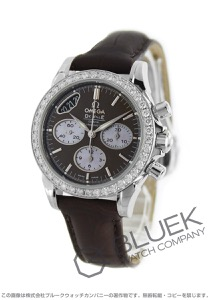 オメガ デビル クロノグラフ ダイヤ アリゲーターレザー 腕時計 レディース OMEGA 422.18.35.50.13.001