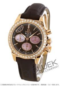 オメガ デビル クロノグラフ ダイヤ RG金無垢 アリゲーターレザー 腕時計 レディース OMEGA 422.58.35.50.13.001
