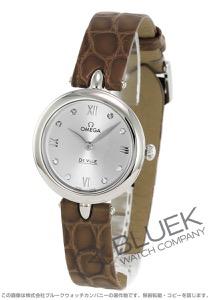 オメガ デビル プレステージ ダイヤ アリゲーターレザー 腕時計 レディース OMEGA 424.13.27.60.52.001