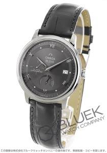 オメガ デビル プレステージ パワーリザーブ アリゲーターレザー 腕時計 メンズ OMEGA 424.13.40.21.06.001