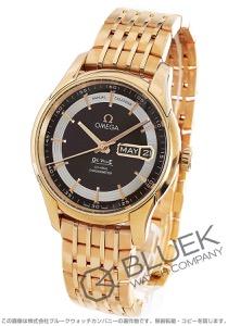 オメガ デビル アワービジョン アニュアルカレンダー RG金無垢 腕時計 メンズ OMEGA 431.60.41.22.13.001