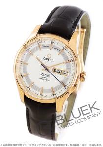 オメガ デビル アワービジョン アニュアルカレンダー RG金無垢 アリゲーターレザー 腕時計 メンズ OMEGA 431.63.41.22.02.001