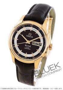 オメガ デビル アワービジョン アニュアルカレンダー RG金無垢 アリゲーターレザー 腕時計 メンズ OMEGA 431.63.41.22.13.001