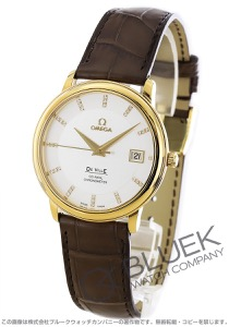 オメガ デビル プレステージ ダイヤ YG金無垢 アリゲーターレザー 腕時計 メンズ OMEGA 4617.35.02