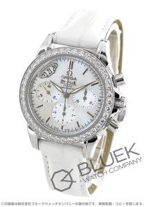 オメガ デビル コーアクシャル クロノグラフ ダイヤ アリゲーターレザー 腕時計 レディース OMEGA 4877.70.36