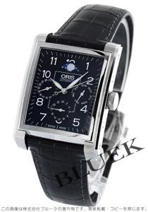 オリス レクタンギュラー コンプリケーション ムーンフェイズ GMT 腕時計 メンズ ORIS 582 7658 4034D