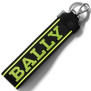 バリー キーリング/キーホルダー/ストラップ アクセサリー メンズ レディース フロリアン ブラック&ネオンイエロー FLORYAN WB 164 6228929 BALLY