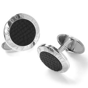 ダンヒル カフス アクセサリー メンズ アールデコ コイン シルバー&ブラック DU19RUS8204040 DUNHILL