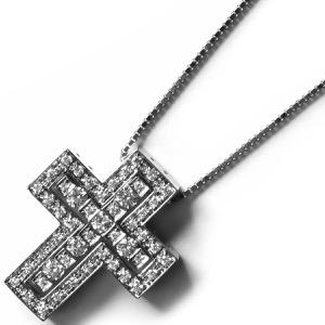 ダミアーニ ネックレス アクセサリー レディース ベル エポック 十字架 クロス クリア&ホワイトゴールド 20039535 20039535 DAMIANI