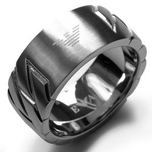 エンポリオアルマーニ リング【指輪】 アクセサリー メンズ イーグルマーク 19号 シルバー EGS2438040510 190 EMPORIO ARMANI