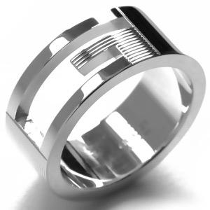 グッチ リング【指輪】 アクセサリー メンズ レディース ブランテッド カットアウトG シルバー 032660 09840 8106 GUCCI