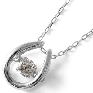 ジュエリー ネックレス アクセサリー レディース ダイヤモンド 一粒 0.08ct K18 ダンシングストーン ホースシュー クリア&ホワイトゴールド D10118915 W JEWELRY