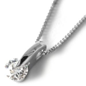 ジュエリー ネックレス アクセサリー レディース ダイヤモンド 一粒 0.1ct クリア&シルバー DPTNC011 JEWELRY