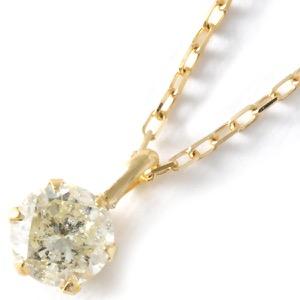 ジュエリー ネックレス アクセサリー レディース ダイヤモンド 一粒 0.3ct K18 クリア&イエローゴールド DS20153 YG JEWELRY