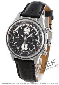 ボールウォッチ トレインマスター ワールドタイム クロノグラフ クロコレザー 腕時計 メンズ BALL WATCH CM2052D-LFJ-BK