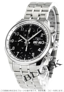 ボールウォッチ トレインマスター パルスメーターII クロノグラフ 腕時計 メンズ BALL WATCH CM3038C-SJ-BK