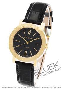 ブルガリ ブルガリブルガリ YG金無垢 アリゲーターレザー 腕時計 メンズ BVLGARI BB38GLD