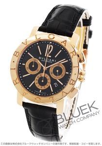 ブルガリ ブルガリブルガリ クロノグラフ PG金無垢 アリゲーターレザー 腕時計 メンズ BVLGARI BBP42BPGLDCH