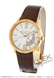 ブルガリ ブルガリブルガリ パワーリザーブ PG金無垢 アリゲーターレザー 腕時計 メンズ BVLGARI BBP43WGL