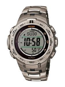 カシオ プロトレック トリプルセンサーVer.3 クロノグラフ パワーリザーブ 腕時計 メンズ CASIO PRW-3100T-7JF