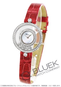 ショパール ハッピーダイヤモンド ダイヤ WG金無垢 アリゲーターレザー 腕時計 レディース Chopard 203957-1208