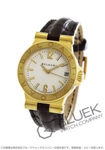 ブルガリ ディアゴノ YG金無垢 アリゲーターレザー 腕時計 レディース BVLGARI DG29C6GLD