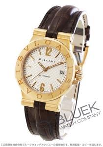 ブルガリ ディアゴノ YG金無垢 アリゲーターレザー 腕時計 ユニセックス BVLGARI DG35C6GLD