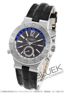 ブルガリ ディアゴノ GMT アリゲーターレザー 腕時計 メンズ BVLGARI DG40C14SLDGMT