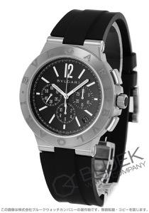 ブルガリ ディアゴノ ヴェロチッシモ クロノグラフ 腕時計 メンズ BVLGARI DG41BSVDCH-SET-BLK