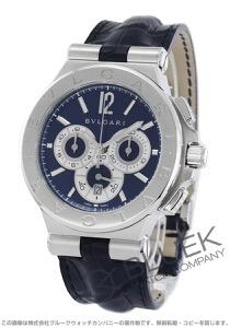 ブルガリ ディアゴノ カリブロ303 世界限定500本 クロノグラフ アリゲーターレザー 腕時計 メンズ BVLGARI DG42C3SLDCH