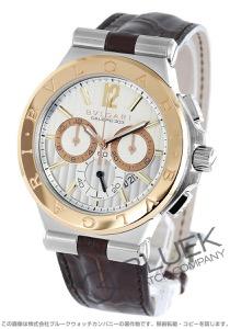 ブルガリ ディアゴノ カリブロ303 クロノグラフ 腕時計 メンズ BVLGARI DG42C6SPGLDCH
