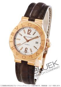 ブルガリ ディアゴノ PG金無垢 アリゲーターレザー 腕時計 メンズ BVLGARI DGP40C6GLD