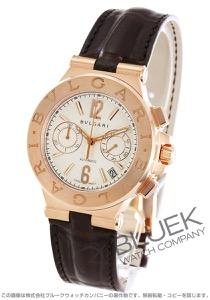 ブルガリ ディアゴノ クロノグラフ PG金無垢 アリゲーターレザー 腕時計 メンズ BVLGARI DGP40C6GLDCH