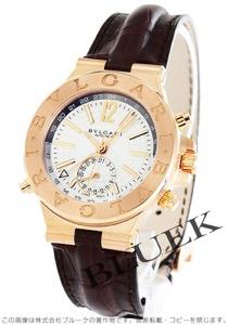 ブルガリ ディアゴノ GMT RG金無垢 アリゲーターレザー 腕時計 メンズ BVLGARI DGP40C6GLDGMT