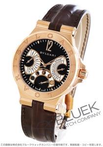 ブルガリ ディアゴノ フェイズ・ドゥ・リューン 世界限定199本 ムーンフェイズ PG金無垢 アリゲーターレザー 腕時計 メンズ BVLGARI DGP42BGLDMP