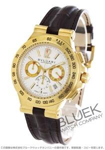ブルガリ ディアゴノ プロフェッショナル テラ クロノグラフ YG金無垢 アリゲーターレザー 腕時計 メンズ BVLGARI DP42C6GLDCH