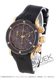 エドックス クロノオフショア1 クロノレディ クロノグラフ 300m防水 腕時計 レディース EDOX 10225-37R-BRIR