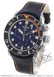 エドックス クロノオフショア1 シャークマンII 世界限定300本 クロノグラフ 1000m防水 替えベルト付き 腕時計 メンズ EDOX 10234-3O-BUIN