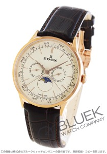 エドックス レ・ボベール ムーンフェイズ 腕時計 メンズ EDOX 40101-37RC-BEIR