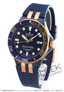 エドックス デルフィン ダイバー デイト 300m防水 腕時計 メンズ EDOX 80110-357BURCA-BUIR