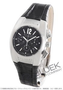 ブルガリ エルゴン クロノグラフ アリゲーターレザー 腕時計 ユニセックス BVLGARI EG35BSLDCH