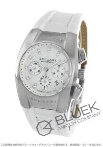 ブルガリ エルゴン クロノグラフ ダイヤ アリゲーターレザー 腕時計 ユニセックス BVLGARI EG35WSLDCH12