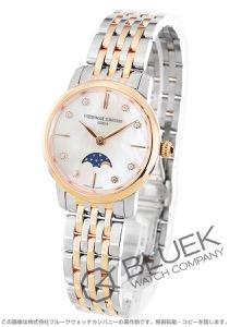 フレデリックコンスタント スリムライン ムーンフェイズ ダイヤ 腕時計 レディース FREDERIQUE CONSTANT 206MPWD1S2B